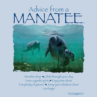 Advice From A Manatee  X-Large  Adult T-Shirt