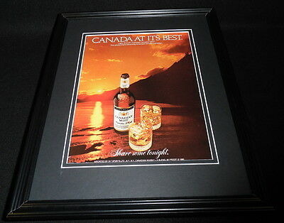 1984 Canadian Mist Whisky Framed 11x14 ORIGINAL Advertisement