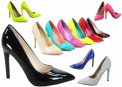 0b01e7bfcba2b7 NEW Womens 19 color Pointy Toe Stiletto High Heel Dress Pump Shoes Size 5.5  - 11