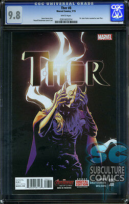Thor #8 - Cgc 9.8 - Sold Out - First Print - Jane Foster Revealed As Thor - Key