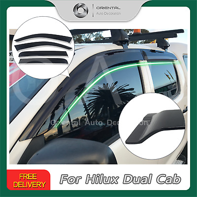 Premium Weather Shields Weathershields Window Visor Hilux Dual Cab 05-15  4pcs
