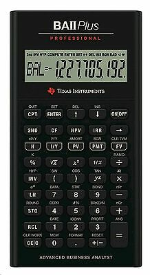 Texas Instruments Professional Business Financial Calculator BAIIPLUSPROF New