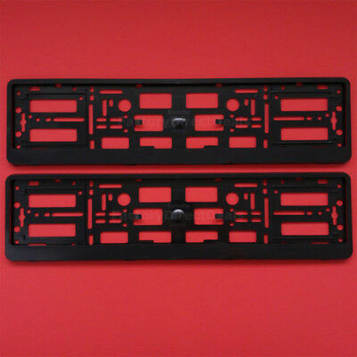 NEW 2x AUDI BLACK NUMBER PLATE SURROUND HOLDER FRAME FOR AUDI CAR A3 A4 A5 A6 A8