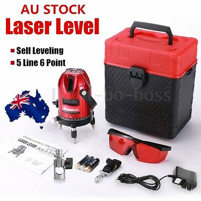 AU Professional Automatic Self Leveling 5 Line 6 Point 4V1H Laser Level Measure