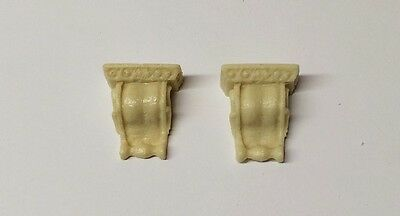 Two Fancy Wall Brackets, Doll House Miniature, 1.12th Scale, DIY, Ceiling
