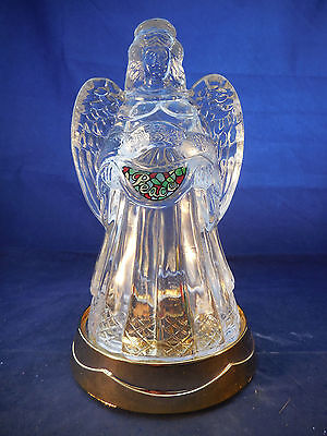 Angel Music Box With Light Glass And Plastic