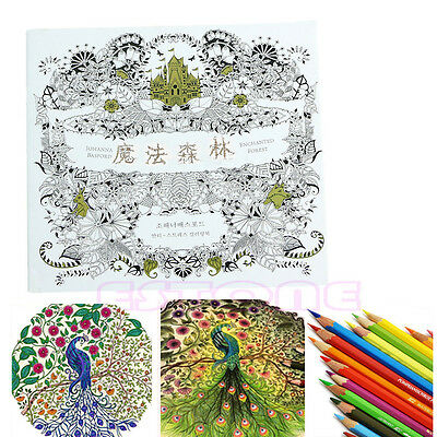C8 US Kids Adult Enchanted Forest An Inky Treasure Hunt Coloring Painting Book