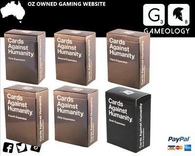 Cards Against Humanity Australian Stock - (123456) Expansion  112 cards per Pack