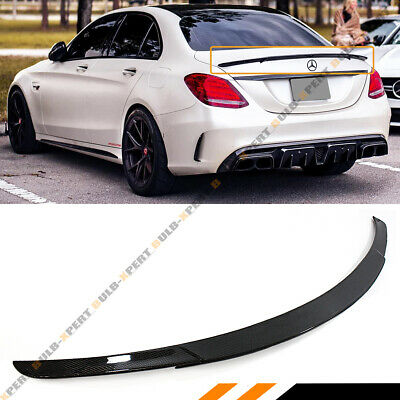 For 2015-17 Mercedes Benz W205 C63 Amg S B Style Carbon Fiber Trunk Spoiler Wing