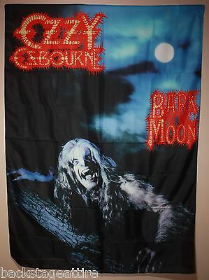 Ozzy Osbourne Bark at the Moon Cloth Poster Flag Fabric Tapestry Wall Banner-New