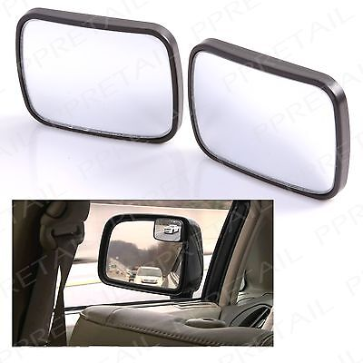 2 x SELF ADHESIVE Wide Angle Blind Spot Driving Mirror Car/Van/Bike Side/Wing