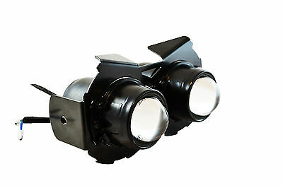 Black E-marked Motorcycle Projector Headlight 12V 55W For Cafe Racer Project