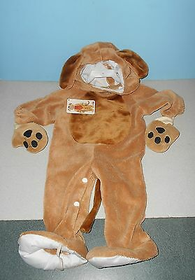 Fun World Playful Puppy Dog Plush Body Jumpsuit Toddler Halloween Costume 6-12 M
