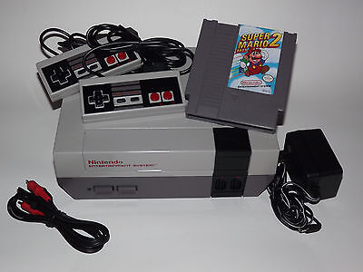 Nintendo Nes System Console With Guarantee New 72 Pin Connector & Super Mario 2