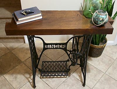 Singer Sewing Machine Industrial Reclaimed wood Table