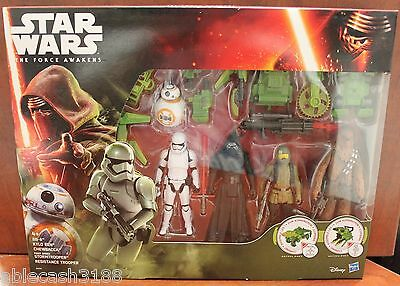 Star Wars The Force Awakens Hasbro Disney 5 action figure pack NEW SEALED MINT