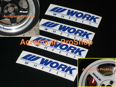 4x 3.5inch 8.9cm Work Wheels spoke decal sticker alloy rim Meister S1 CR kai JDM