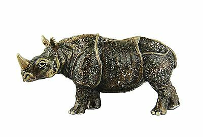 Jay Strongwater Amazing Large Rhino Lulu Swarovski Brand New Made In Usa Box