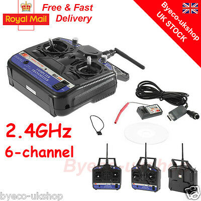 Transmitter Receiver Combo Flysky 2.4G FS-CT6B 6CH For RC Boat Car BY