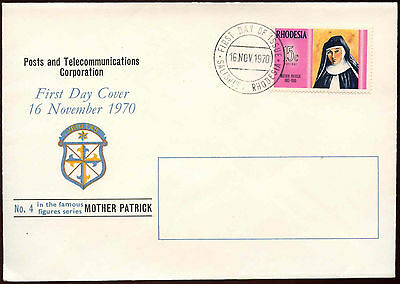 Rhodesia 1970 Mother Patrick FDC First Day Cover #C15240