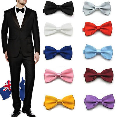 Men's  Color Tuxedo Classic Bowtie Pre Tied Wedding Satin Bow Tie Neckwear