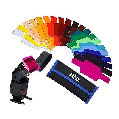 Selens Universal Flash Gels Lighting Filter SE-CG20 - Combination Kits for Ca...