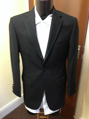 Mens Torre Black Striped Tuxedo Jacket, Various Sizes Available, Formal Wear Etc