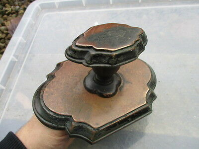Victorian Brass Centre Door Knob Handle Pull Architectural Antique Georgian Old