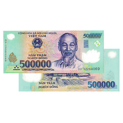 1 x 500,000 VIETNAM DONG BANK NOTE VIETNAMESE CURRENCY UNCIRCULATED