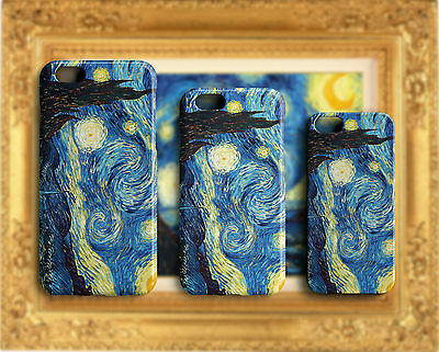 Cover per iPhone Samsung Huawei Notte stellata Van Gogh Dipinto The Starry Night
