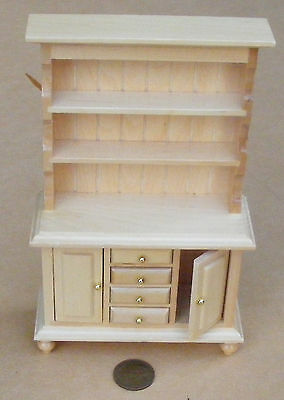 1:12 Scale Kitchen Pine Welsh Dresser Dolls House Miniature Furniture Accessory