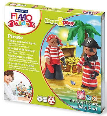 New FIMO Kids Form & Play Set Pirates Modelling Jewellery Craft Art Fun