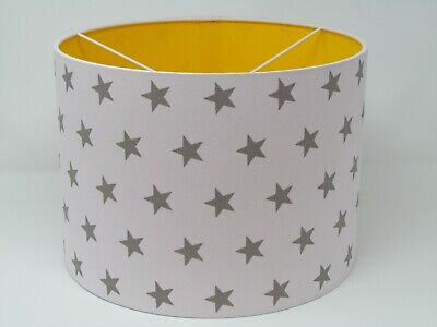 White Silver Star Yellow Lining Ceiling Light shade Lampshade Baby Nursery