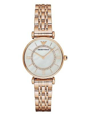 Emporio Armani® watch AR1909 Ladies Gianni T-Bar Gold Plated