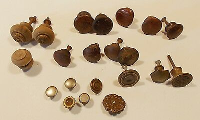 Antique Original Mixed wooden wood knobs