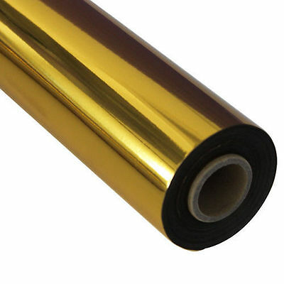 "1 Roll 3.1""x131yards/8cmx120M Golden Hot Stamping Foil Heat Transfer Laminating"
