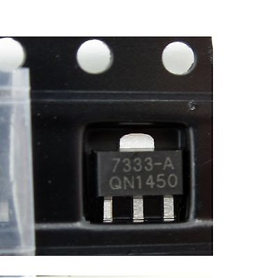 100PCS HT7333 HT7333-A  3.3V SOT-89 Low Power Consumption LDO Voltage Regulator