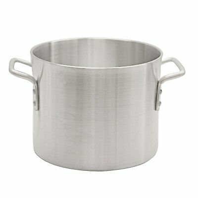 Thunder Group 40-Quart Heavy-Gauge Aluminum Stock Pot with Riveted Side Handles