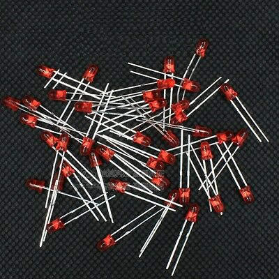 100pcs 3mm Red Color Round LED Light Emitting Diodes