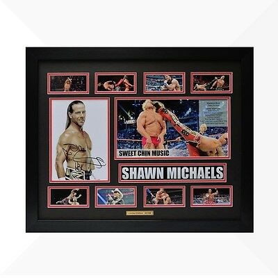 Shawn Michaels WWE Signed & Framed Memorabilia - Black/Red Limited Edition