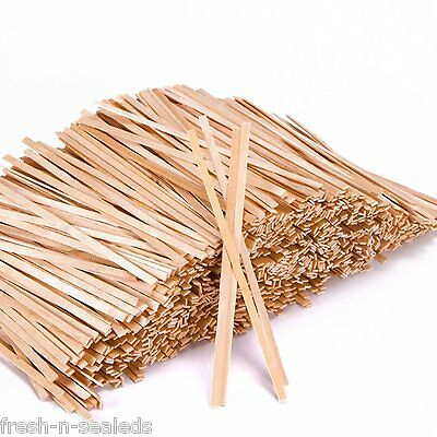 "1,000 Wood Coffee Stirrers Wooden Stir Sticks Tea 5.5"" Disposable, by Royal"