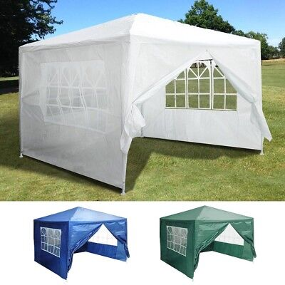 10'x10' Outdoor Party Wedding Tent Patio Canopy w/4 Side Walls Color Opt.