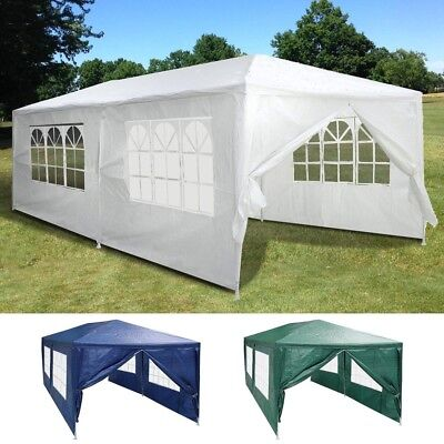 10'x20' Outdoor Party Tent Canopy Wedding Pavilion Cater Event Marquee 6 Walls