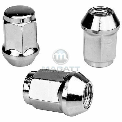 16 Chrome Wheel Nuts For Aluminium Rims Honda Logo Ga3 Accord Iv V Vi