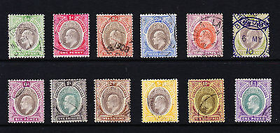 Southern Nigeria 1904-09 Complete Set Sg 21-32 Fine Used.