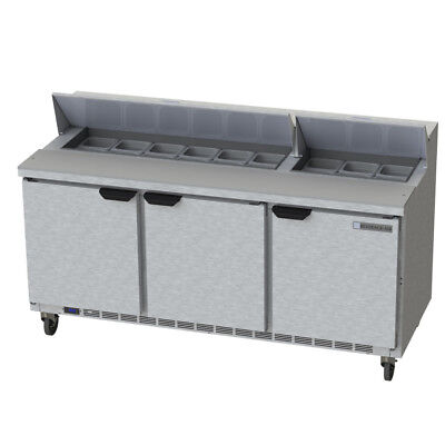 Beverage-Air Bev Air SPE72HC-18 Refrigerated Food Prep Table Elite Series