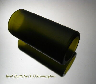 Real BottleNeck Guitar Slide Custom Matte Finish 18mm ID Acoustic Electric Reso