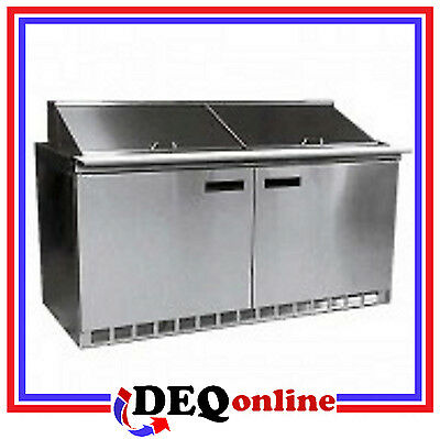 Delfield 4464N-12 Two Section w/doors 12 Pan Capacity Salad/Sandwich Top