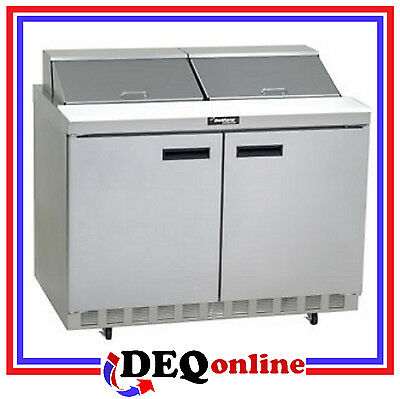 Delfield 4448N-12 Two Section w/doors 12 Pan Capacity Salad/Sandwich Top