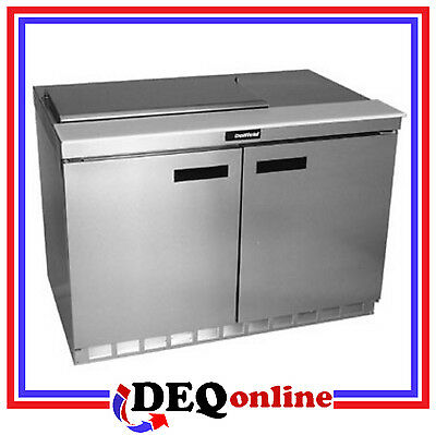 Delfield 4460N-12 Two Section w/doors 12 Pan Capacity Salad/Sandwich Top